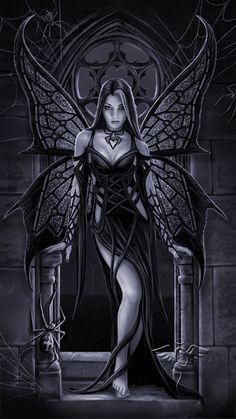 Dark girl-butterfly