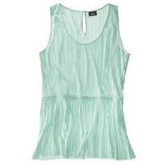 Mossimo® Women's Plus-Size Pleated Peplum Tank Top - Assorted Colors Plus Size Shirts, Plus Size Tops, Pleated Shirt, Green Shirt, Dress To Impress, Plus Size Outfits, Basic Tank Top, Peplum, Tank Tops