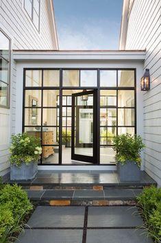 New house exterior modern breezeway Ideas House Exterior, Exterior Design, New Homes, Breezeway, Modern Farmhouse, Modern House Exterior, Garage Renovation, Exterior, House And Home Magazine