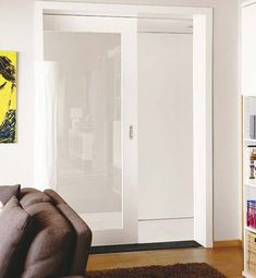 Louvered Closet Door - February 18 2019 at Interior Windows, Interior Trim, Home Interior Design, Cavity Sliding Doors, Sliding Door Window Treatments, Door Dividers, Inside Doors, Traditional Doors, Double Barn Doors