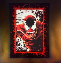 """Happy Halloween form Collect2display! Awesome print by Damon Bowie with the """"Carnage"""" 11x17 Frame"""