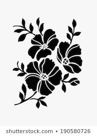 Similar Images, Stock Photos & Vectors of Flower design elements vector - 252583555 Stencils, Stencil Painting, Fabric Painting, Floral Embroidery Patterns, Hand Embroidery Flowers, Stencil Patterns, Stencil Designs, Fabric Paint Designs, Flower Clipart