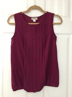 For Sale: THE LOFT!! BEAUTIFUL PLUM BLOUSE - Gorgeous plum. % polyester
