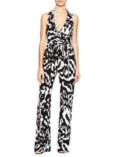 Zola Print Silk Jumpsuit from Girls' Night Out on Gilt