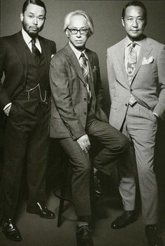 Mr. Motofumi Poggy Kogi, Mr. Kurino and Mr. Yasuto Kamoshita    ready to rock Pitti Uomo! pinned with Pinvolve