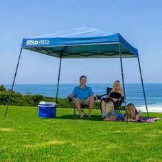 Quik Shade Summit SX170 10 x 10 ft. Instant Canopy with Adjustable Dual Half Awnings Blue/Graphite - 157417 | Summits Half and Ft & Quik Shade Summit SX170 10 x 10 ft. Instant Canopy with Adjustable ...