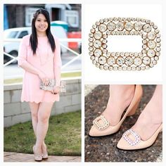 Blogger, White Roses and Coffee, rocking our Regal French Buckle Shoelery shoe clips. Your Shoes, New Shoes, Looks Street Style, Shoe Clips, Shoe Closet, White Roses, Casual Chic, Designer Shoes, Night Out