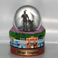 Disney Snow Globe - Partners - Mickey & Walt on Main Street