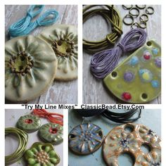 """NEW! """"Try My Line mixes"""" Singles & orphans that I have paired with items from my sister shop ClassicElements.  A great way to try some of the offerings from both shops ClassicElements & ClassicBead! Welcome to all the new shoppers from Stringing magazine."""