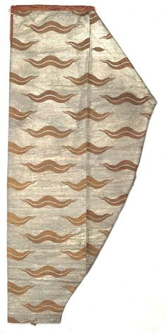 Ottoman salvar (trousers), with the paired wavy band element of the çintamani design, Turkey, second half 16th century. Seraser, silk and silver thread brocade, cotton lining. Topkapi Saray Museum, Istanbul, 13/559