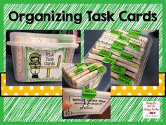 Organizing Task Cards