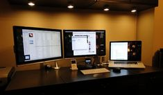 36 best multiple monitor setup images home office offices workplace rh pinterest com