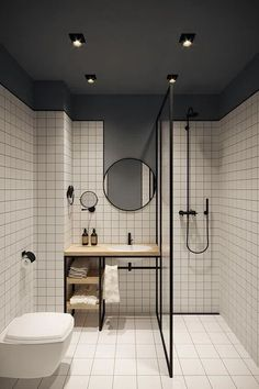 Want to enhance your bathroom? Read on to know our top 50 small bathroom design ideas. From simple to classic to contemporary to luxurious, and more, these bathrooms prove big style moments can come in small packages! Wet Room Bathroom, Small Bathroom, Bathroom Ideas, Bath Room, Bathroom Organization, White Bathroom, Tiny Bathrooms, Small Shower Room, Hotel Bathrooms