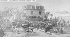 Simon Gauthier 23 h Visite du Premier Ministre Honoré Mercier à Saint-Raymond pour l'inauguration du chemin de fer - 1887.