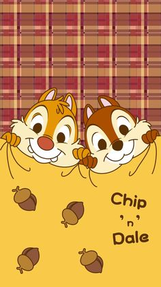 New Chip and Dale Wallpaper iPhone Wallpaper Animes, Disney Phone Wallpaper, Kawaii Wallpaper, Wallpaper Iphone Cute, Disney Images, Disney Pictures, Chip Y Dale, Tsumtsum, Mickey Mouse And Friends