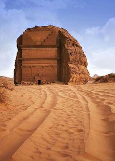 Mada' in Saleh archeological site, 2nd largest city of Nabatean kingdom dating around 1st century AD North West Saudi Arabia.  Saudi Arabia  हमारी साइट पर सूचना   http://storelatina.com/saudiarabia/travelling  #travelSaudiArabia #recipes #recipesSaudiArabia #recetas