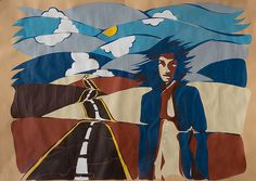 The Hitchhiker - Hand made Prints http://www.flickr.com/photos/drormiler/8196544882
