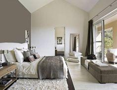 White + grey bedroom