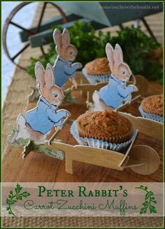 Peter Rabbit's Carrot Zucchini Muffins, a delicious, healthy and sure to please everybunny!