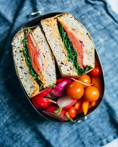 roasted red pepper and smoked salmon sandwiches // brooklyn supper #ad