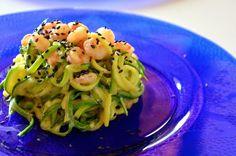 Vita su Marte: Ricetta Light: spaghetti di zucchine cremosi al curry e gamberetti