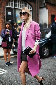 Street Style Pink Coat