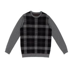 e8c513f4ca Plaid Crewneck Sweater – Hyden Yoo Crewneck Sweater