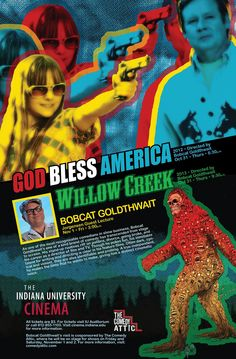 Bobcat Goldthwait in Bloomington for screenings of God Bless America and Willow Creek (October 31) as well as a Jorgensen Guest Filmmaker Lecture (Nov. 1 at 3pm).  And he'll be playing The Comedy Attic.