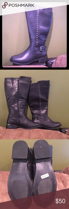 Torrid Wide Leg Black Boots Size 9 New Boots NBW. Black Wide Leg. They weren't a good fit for me but maybe a better fit for you!! torrid Shoes Combat & Moto Boots