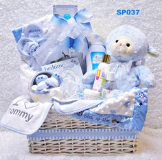 Baby Gift Basket - Baby Boy Blue - SP037 - Free Shipping!Simple Pleasures Etc