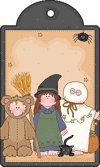 """et celui-ci, avec le même petit chat noir, qui apparaît sur toute la collection """"Halloween"""" de Graphic Garden..."""
