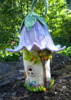 Bluebell Faerie Home, with its own orange tree!