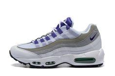 online retailer e5c00 c699b NIKE AIR MAX 95 Womans GRAPE 307960-101 White Purple Emerald Green-Wolf  Grey  1-1705NKAM-92  -  79.00