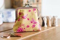 Coin purse made with lovely Tilda cotton by CrimsonRabbitBurrow