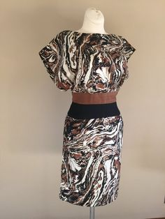50s Designer Estevez Marbled Pattern Day Dress by CompanyV on Etsy