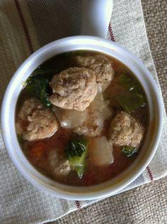 Italian Wedding Soup {Lightened Up}