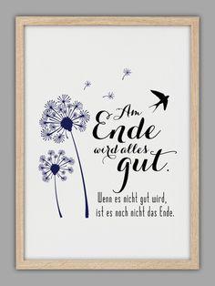 """""""ALLES WIRD GUT"""" Kunstdruck von Smart-Art Kunstdrucke auf DaWanda.com"""