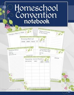 Going to a homeschool convention this year? One of the best ways to gain the most value from your convention is to be prepared and organized. This notebook will help you do both! FREE printable.