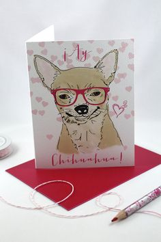 Ay Chihuahua / Chihuahua Valentine's Day Cards by SentWell on Etsy