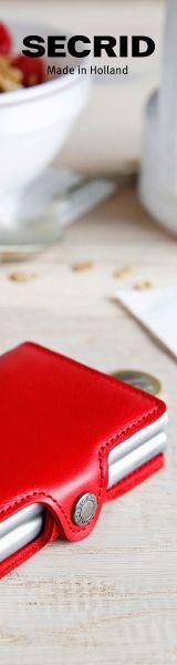 SECRID Twinwallet Das Twinwallet besteht aus zwei Cardprotectors in einer Lederhülle mit Druckverschluss. Mit dem Twinwallet nehmen Sie acht bis zwölf Karten sicher mit. Die Innenausstattung bietet zudem Platz für zusätzliche Karten, Geldscheine, Kassenbelege, Visitenkarten und Münzgeld.  #secrid #Twinwallet #kartenetui #red