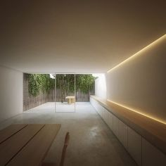 View from the inside...  John Pawson's kitchen + terrace in his London home