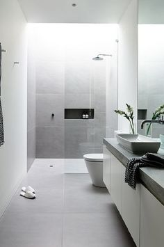 Nails This Space And We Think Itu0027s One Of The Best Modern Bathrooms Weu0027ve  Received. Cool Grey Tiles, Lots Of Natural Light And Timeless Product  Selections!