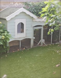 I'd so love to have chickens. If only I could convince hubby. Backyard Chicken Coops, Diy Chicken Coop, Chickens Backyard, Backyard Farming, Meat Rabbits, Pet Chickens, Raising Chickens, Bunny Cages, Rabbit Cages