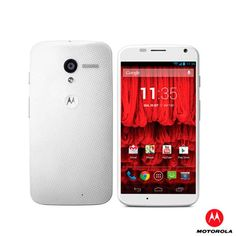 "Smartphone Motorola X Branco com Android 4.2.2, Dual Core Qualcomm Snapdragon S4, Display de 4,7"" 3G e WI-FI - XT1058"