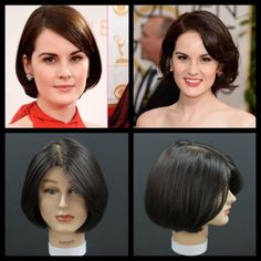 Please enjoy this haircut tutorial of Actress Michelle Dockery. Michelle Suzanne Dockery is a Golden Globe- and Emmy-nominated English actress and singer. Sh… Source by Short Hair Bun, Thick Curly Hair, Curly Hair Styles, Bob Hairstyles, Straight Hairstyles, Lady Mary Crawley, Short Layered Haircuts, Michelle Dockery, Fine Hair