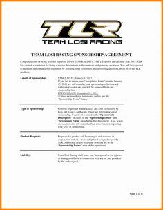 Printable Frais Image De Race Car Sponsorship Proposal Template