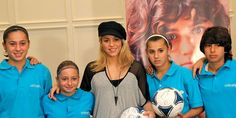 Nothing like a little football practice, then getting to hang out with Shakira.  That's what a few young people who play in a UNICEF-sponsored league in Azerbaijan got to do recently. Shakira spoke with the teens on how sports leads to a healthier lifestyle and empowerment across all aspects of life, but especially in education.  You can learn more about Shakira's visit here: http://www.unicef.org/infobycountry/azerbaijan_66180.html     © UNICEF Azerbaijan/2012/Pirozzi