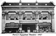 PERRY'S EGYPTIAN THEATER 1927  Ogden Utah