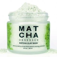 Matcha Coconut Clay Mask #EggWhitesCleansingMask #AvocadoFaceMask Winter Beauty Tips, Beauty Tips For Hair, Beauty Stuff, Beauty Tricks, Beauty Care, Diy Beauty, Green Tea Facial, Organic Matcha Green Tea, Face Mask For Pores