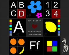 Mini-sebran for toddlers.  Free games for teaching letters and numbers to kids 2-6 years old.